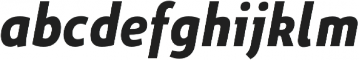 Niva Bold-Italic_Condensed otf (700) Font LOWERCASE