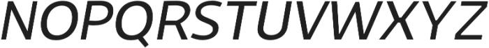 Niva Book-Italic otf (400) Font UPPERCASE