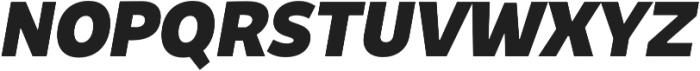 Niva ExtraBlack-Italic otf (900) Font UPPERCASE