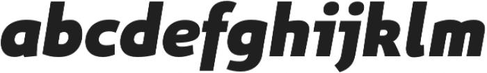 Niva ExtraBlack-Italic otf (900) Font LOWERCASE