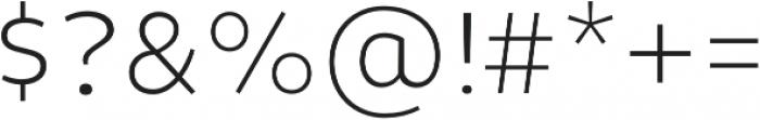 Niva ExtraLight otf (200) Font OTHER CHARS