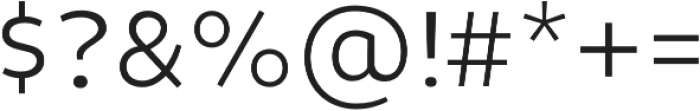 Niva Light otf (300) Font OTHER CHARS