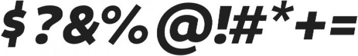 Niva SmallCaps Black-Italic otf (900) Font OTHER CHARS