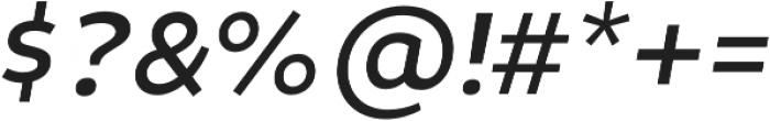 Niva SmallCaps Italic otf (400) Font OTHER CHARS