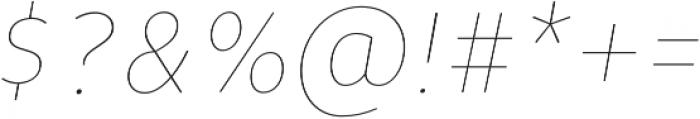 Niva Thin-Italic_Condensed otf (100) Font OTHER CHARS