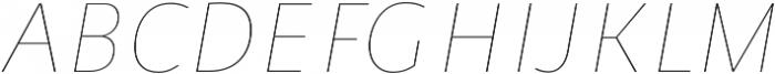 Niva Thin-Italic_Condensed otf (100) Font UPPERCASE