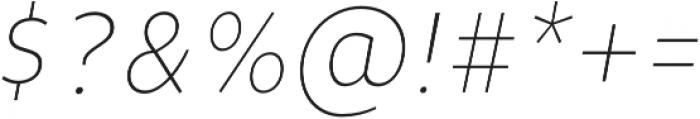 Niva UltraLight-Italic_Condensed otf (300) Font OTHER CHARS