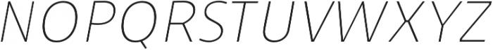 Niva UltraLight-Italic_Condensed otf (300) Font UPPERCASE