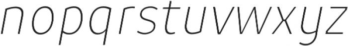 Niva UltraLight-Italic_Condensed otf (300) Font LOWERCASE