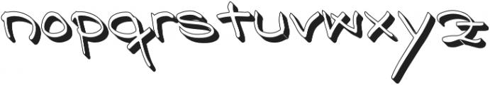 Nizary Shadow otf (400) Font LOWERCASE
