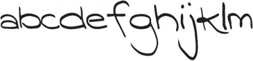 Nizary Thin otf (100) Font LOWERCASE