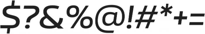 Nizzoli SemiBold It otf (600) Font OTHER CHARS