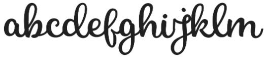 nicky otf (400) Font LOWERCASE
