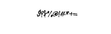 NielsenOwen-Script.otf Font OTHER CHARS