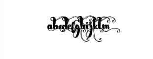 Nightamore Brush Calligraphy Font LOWERCASE