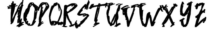 Nightmare Font UPPERCASE