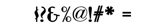 Nickerbocker NF Font OTHER CHARS
