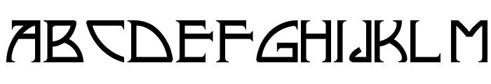 Nickley NF Font UPPERCASE
