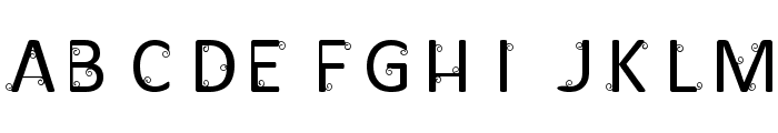 Nicurls Font UPPERCASE