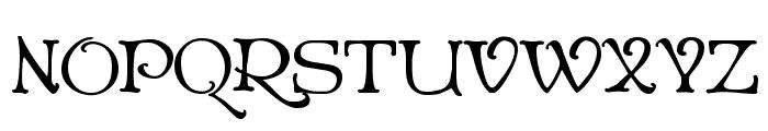 Niederwald Font UPPERCASE