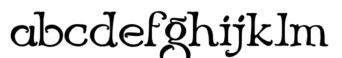 Niederwald Font LOWERCASE