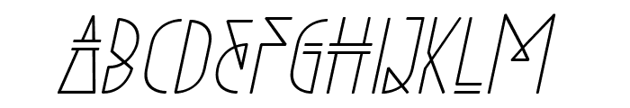 Niewe-Italic Font UPPERCASE