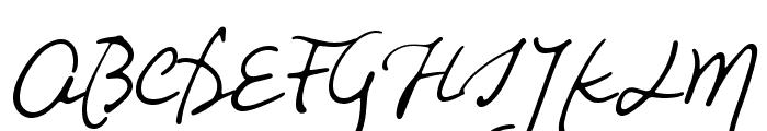 Night Wind Sent Sample Font UPPERCASE