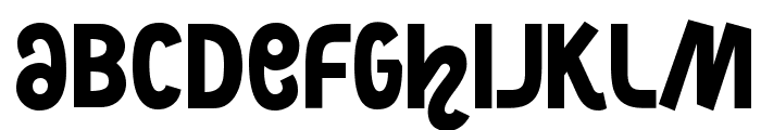 NightCourt-Regular Font LOWERCASE