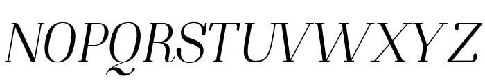 NightStillComes-Italic Font UPPERCASE