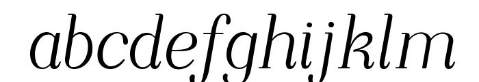 NightStillComes-Italic Font LOWERCASE