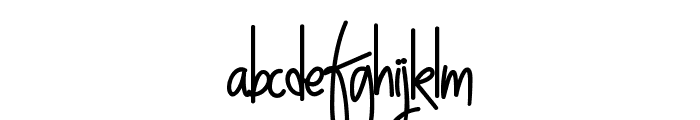 NightWork Font LOWERCASE
