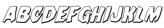 Nightchilde 3D Italic Font UPPERCASE