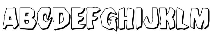 Nightchilde 3D Regular Font UPPERCASE