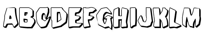 Nightchilde 3D Regular Font LOWERCASE
