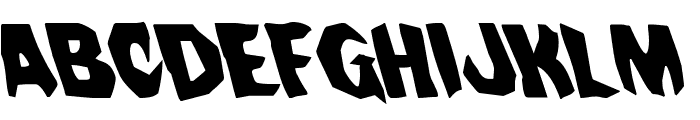 Nightchilde Leftalic Font UPPERCASE