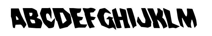 Nightchilde Leftalic Font LOWERCASE