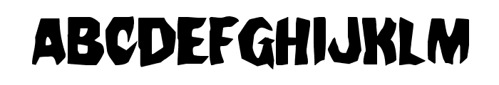 Nightchilde Staggered Regular Font UPPERCASE