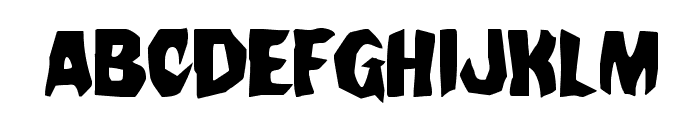 Nightchilde Staggered Regular Font LOWERCASE