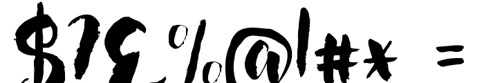 Nightingale Font OTHER CHARS
