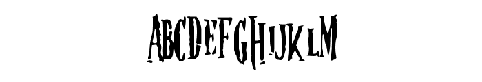 Nightmare-5 Font LOWERCASE
