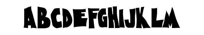 Nightmare AOE Font UPPERCASE