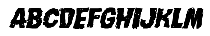 Nightmare Alley Expanded Italic Font LOWERCASE