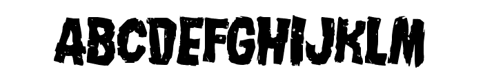 Nightmare Alley Leaning Font LOWERCASE