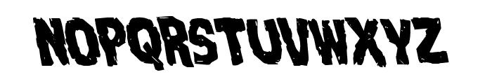 Nightmare Alley Leftalic Font UPPERCASE