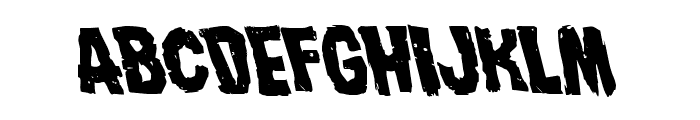 Nightmare Alley Leftalic Font LOWERCASE
