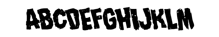 Nightmare Alley Rotated Font UPPERCASE