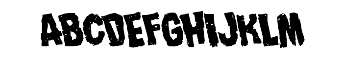 Nightmare Alley Rotated Font LOWERCASE