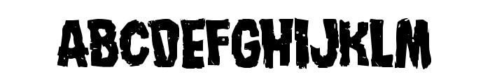 Nightmare Alley Staggered Font LOWERCASE