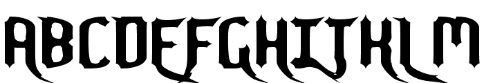 Nightwarrior Normal Font UPPERCASE