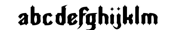 Nightwarrior Normal Font LOWERCASE